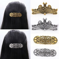 Women Rretro Celtic Vikings Alloy Hair Clip Barrette Headdress Vintage Access