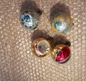 vintage nice glass Christmas ornaments