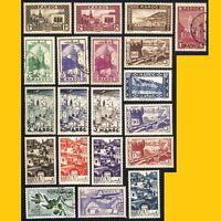 LOT 20 TIMBRES DU MAROC -  ANNEES 1930 A 1966 NEUFS **