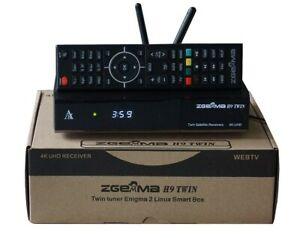Zgemma H9 TWIN - 4K - 2 x DVB-S2X - Stalker - WIFI IE Stock!!!