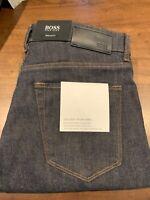 NWT Hugo Boss Maine Mens Regular Fit Dark Blue Stretch Denim Jeans 36 x 34 $178