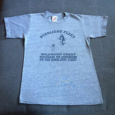 Starlight Fleet Fishing Wildwood Crest Hookem to Cookem T shirt, Men's S- Rayon