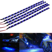 5 X Blue 15 LED 30CM Car Grill Flexible Waterproof Light Strip SMD 12V Sales