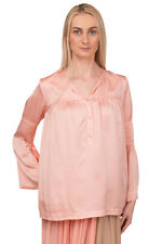 RRP €180 L'AUTRE CHOSE Silk Shirt Blouse Size 42 Pink Long Sleeve Made in Italy