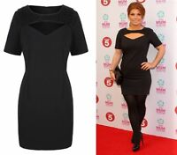 BNWT Coleen Rooney Black Beaded Cut Out Yoke Evening Occasion Dress NEW 10 - 20