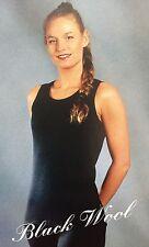JANUS 100% Merino Wool (Black) Women's Sleeveless Shirt, Size XS See Details