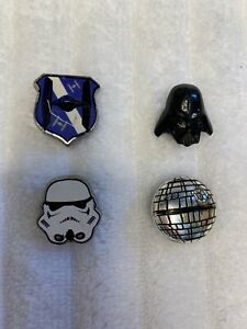 DISNEY STAR WARS SHOE CHARMS DARK SIDE 3PK & DARTH VADER STORMTROOPER JIBBITZ
