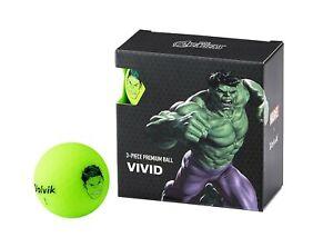 NEW Volvik Vivid Marvel 4pk Hulk Golf Balls - Green - Drummond Golf