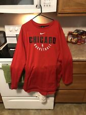 Nike Therma NBA Chicago Bulls Training Sweater Shirt XXL BNWT 877797-657 Red