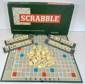 Scrabble Original Vintage Word Board Game Spears Boxed