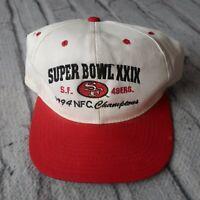 Vintage 90s San Francisco 49ers Snapback Hat NFC Champions 1994 Cap