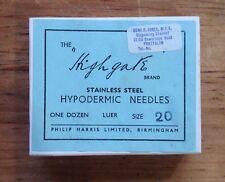 Vintage Aged Empty Hypodermic Needle Cardboard - L1