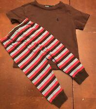 Set Ralph Lauren Blue Tag Boys Shirt And Gymboree Striped Leggings Size 18M