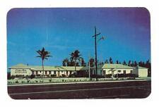 Vintage Florida Chrome Postcard Riviera Beach Casa Mia Motor Lodge Motel