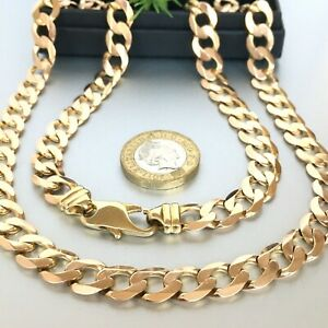"""HEAVY 9ct ROSE GOLD CURB CHAIN MEN'S SOLID 25 1/4"""" - 61.7 g (1.98 toz)"""