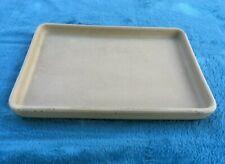 "Pampered Chef Stoneware Toaster Oven Baking Pan Tray Unglazed 9.5"" x 7"""