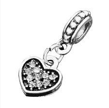 hot European Silver CZ Charm Beads Fit sterling 925 Necklace Bracelet Chain kc13