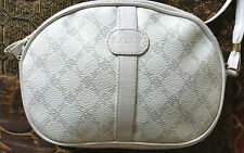 AUTHENTIC BALLY OFF-WHITE LEATHER  MONOGRAM ROUND CROSSBODY SHOULDER BAG~ITALY