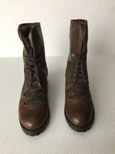 New BC Women (Size 7.5M) Man Made Upper Faux Fur Lining Lace Up Ankle Boots