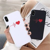 Cute Love Heart Lovers Couple Case iPhone 11 Pro Max XR XS 6 7 8 Plus I Love You