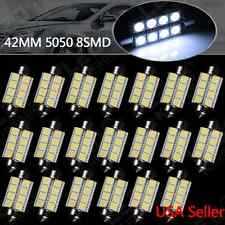 20X Cool White 42MM 5050 8SMD Festoon Dome Map Interior LED Light 211-2 578 6413