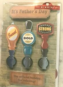 American Greetings Premiere Father's Day Card - 3D Beer on Tap Sweet Bold Strong