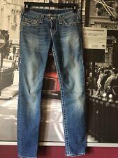 TRUE RELIGION Skinny Women's Jeans Size 27 Denim  Blue Jeans RN# 112790  CA#3042