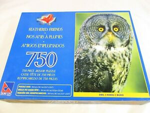 Sure-Lox Feathered Friends Owl 750 pieces Brand New Old Stock. 39.4cm x 59.7cm