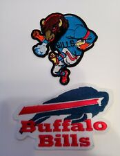 (2) Buffalo Bills vintage embroidered iron on  Patches patch lot Vintage