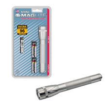 Mini Maglite Super Bright Xenon Lamp 2-Cell AA IPX4 Flashlight- Silver