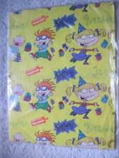 1 Rugrats 8.33 Sq Ft Sheet Gift Wrap Yellow American Greetings Tommy Chucky