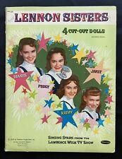 Original Lennon Sisters Paper Doll Book, 1959, Uncut Trifolder Set