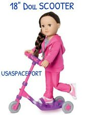 """18"""" Doll 3-wheel KICK SCOOTER Pink Fits My Life As American Girl Our Generation"""