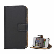Luxury REAL LEATHER WALLET STAND CASE FOR APPLE IPHONE 4/4S UK FREE DISPATCH