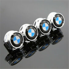 New 4PCS Alloy Metal Car License Plate Frame Screw Bolts Cap Cover For BMW