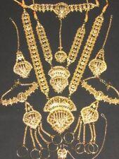Bridal Necklace set 9 Pcs~Free Bindi Bollywood Indian Jewelry Jodha Akbar Gold