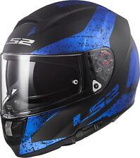 Ls2 casco moto Integrale Ff397 vector Ft2 Sign Matt negro azul 3XL