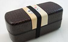 Bento Box Boîtier plat Japon verni pique-deux étages 800ml cartables mortadelle BOX