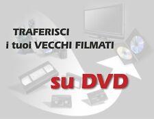 Trasferimento copia cassette (VHS - video 8 - miniDV) costo a durata su DVD
