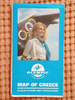 OLYMPIC AIRWAYS GREECE - MAP OF GREECE RARE!!!