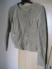 blouson veste croûte de CUIR vêtement femme T3 40/42 CACHE CACHE - NEUF