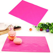 Macaron Macaroon Silicone Sheet Baking Dessert Cake Mould Oven Tray Template Mat