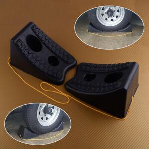 2pcs HEAVY DUTY WHEEL CHOCKS Trailer Camper Tire Stopper RV Car Block Chock
