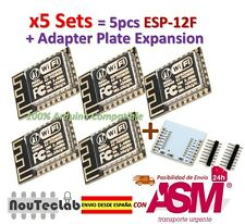 5pcs ESP-12F ESP12F ESP8266 Enhanced version Serial WIFI + Plate Expansion