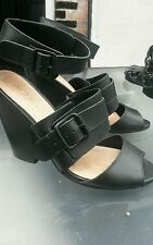 Aldo Strappy, Ankle Straps No Pattern Casual Heels for Women