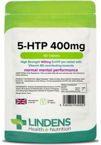 5HTP 400mg Tablets 60 Serotonin Helps Against Stress, Anxiety, Depression(5 HTP)