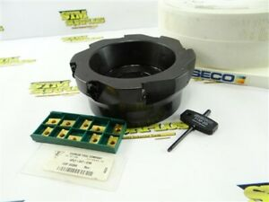 """SECO 6"""" INDEXABLE FACE MILL 2"""" BORE MODEL R220.69-06.00-16 + 10 NEW INSERTS"""