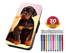 Doberman Puppy Dog Flip Phone Case Cover for iPhone Samsung Huawei