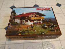 Vintage VOLLMER 3702 Haus Alpenrose HO Scale PLASTIC MODEL KIT Made in Germany