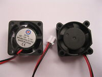 1 pcs Brushless DC Cooling 5 Blade Fan 2510S 12V 25x25x10mm 2Wire Sleeve Bearing